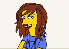 Angie as a simpson