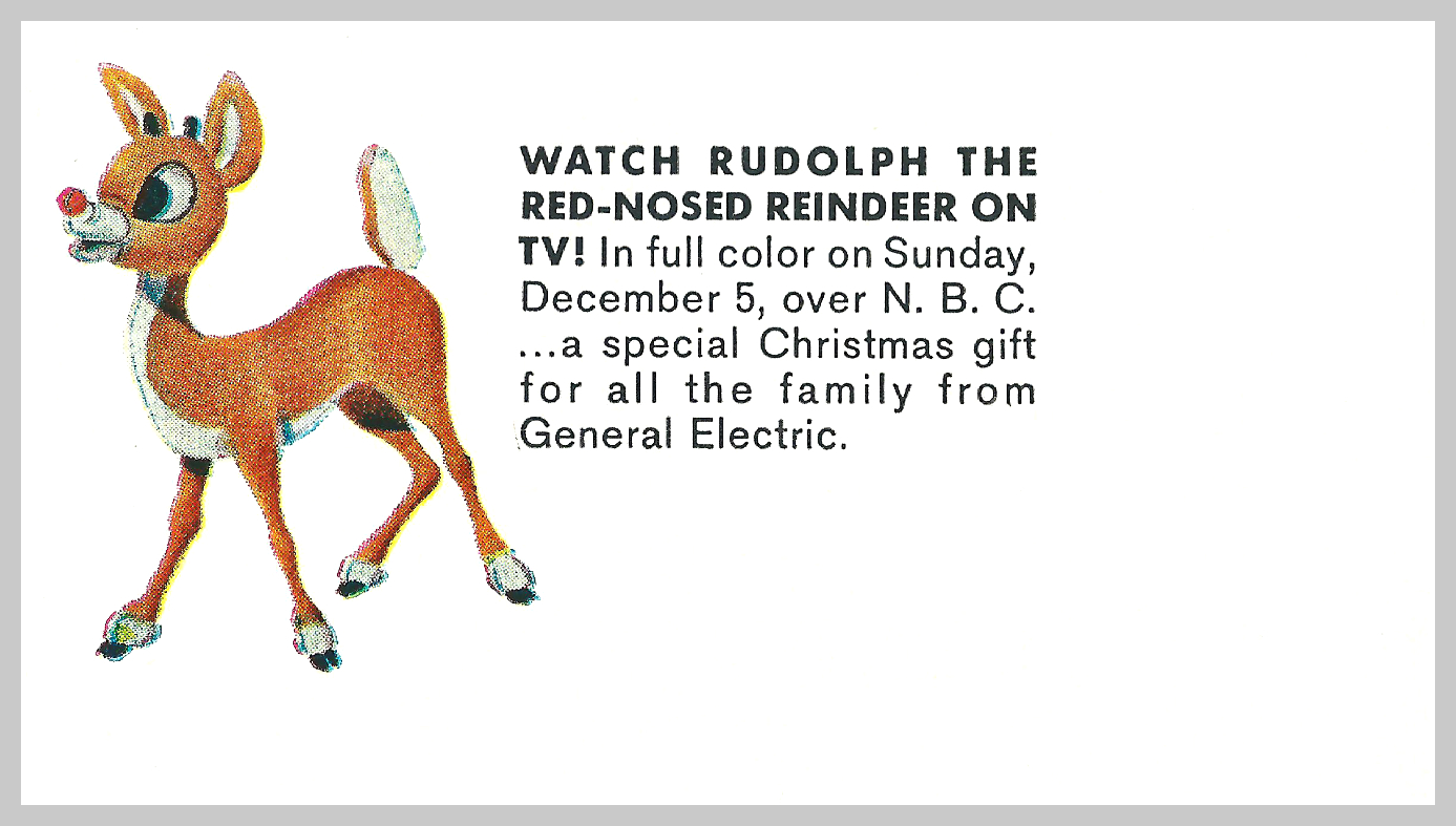Rudolph The Red Nosed Reindeer General Electric Ads