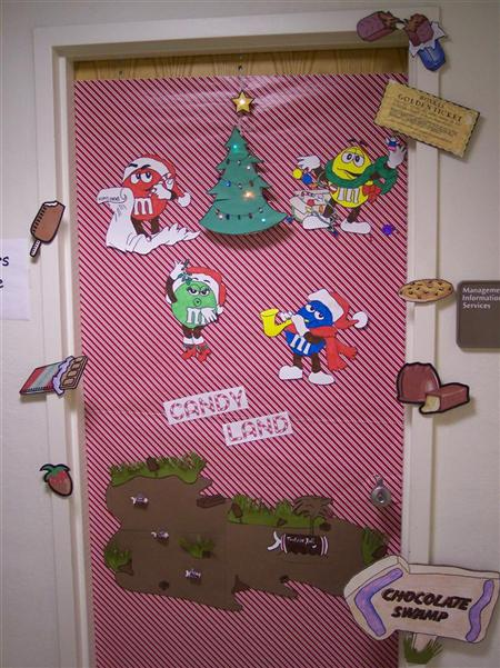 melts in your mouth not in your hand - Candyland Christmas Door Decorations
